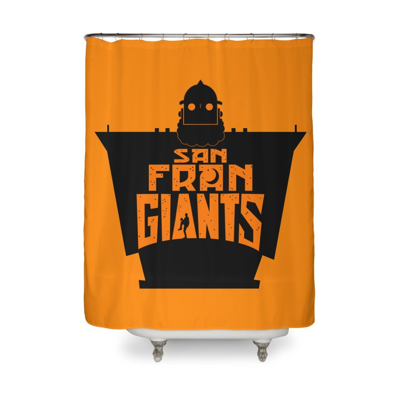 San Fran Iron Giants Home Shower Curtain by Mike Hampton's T-Shirt Shop