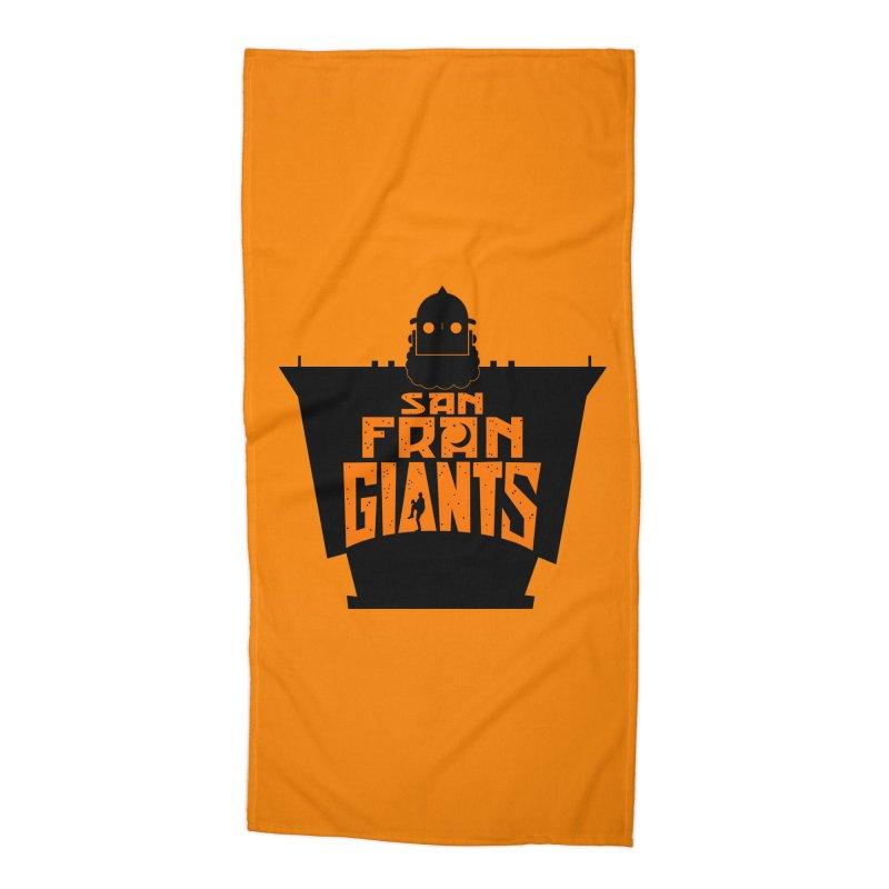 San Fran Iron Giants Accessories Beach Towel by Mike Hampton's T-Shirt Shop