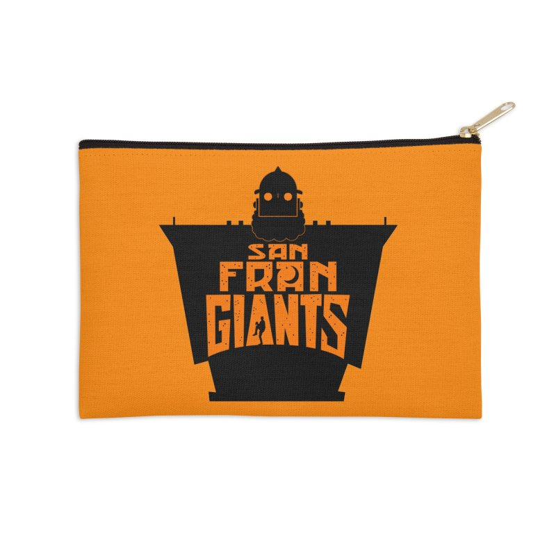 San Fran Iron Giants Accessories Zip Pouch by Mike Hampton's T-Shirt Shop