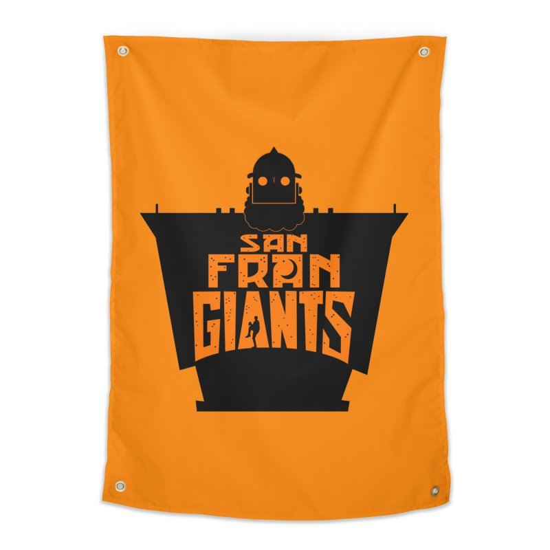 San Fran Iron Giants Home Tapestry by Mike Hampton's T-Shirt Shop