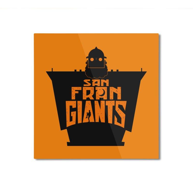 San Fran Iron Giants Home Mounted Aluminum Print by Mike Hampton's T-Shirt Shop