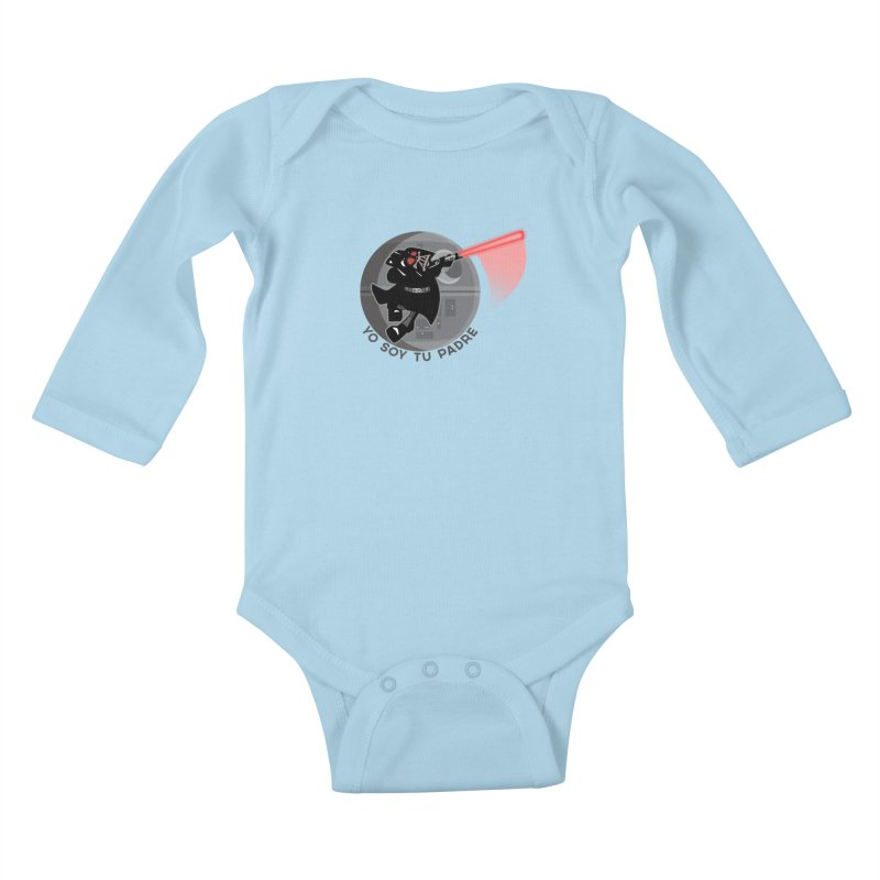 [I Am Your Father] Kids Baby Longsleeve Bodysuit by Mike Hampton's T-Shirt Shop