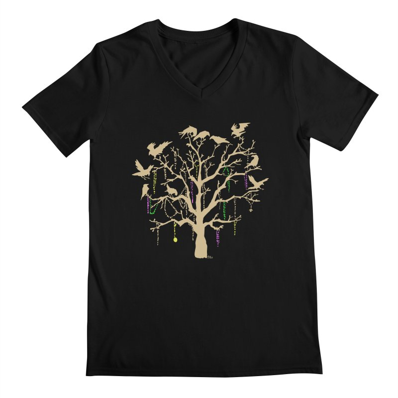 The Birds and the Beads Men's V-Neck by Mike Hampton's T-Shirt Shop