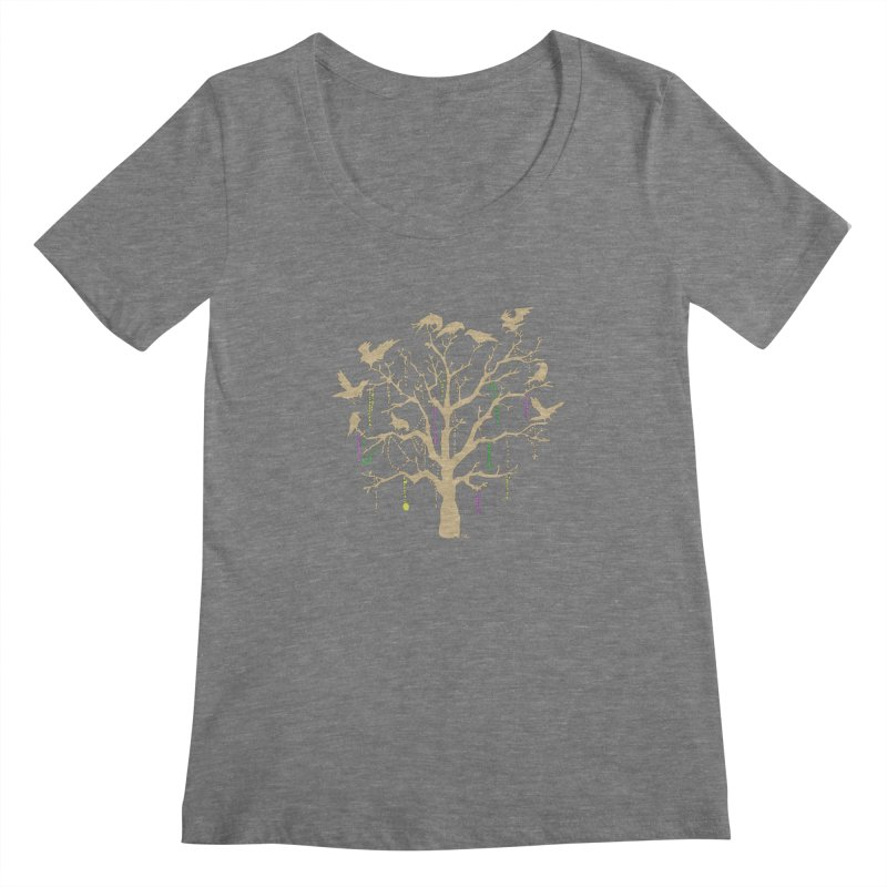 The Birds and the Beads Women's Scoopneck by Mike Hampton's T-Shirt Shop