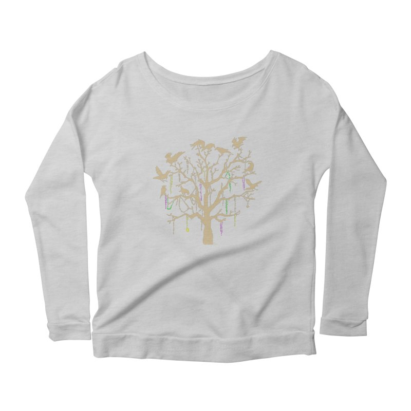 The Birds and the Beads Women's Longsleeve Scoopneck  by Mike Hampton's T-Shirt Shop
