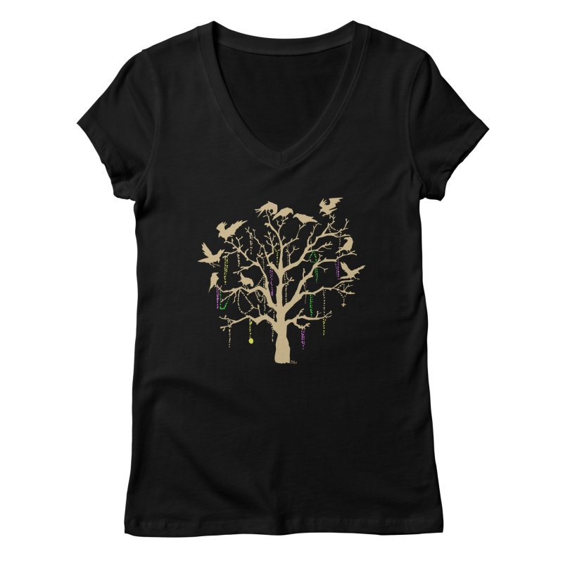 The Birds and the Beads Women's V-Neck by Mike Hampton's T-Shirt Shop