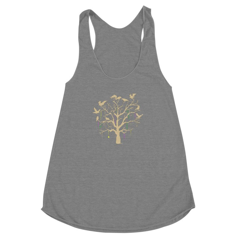 The Birds and the Beads Women's Racerback Triblend Tank by Mike Hampton's T-Shirt Shop