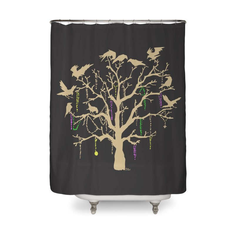 The Birds and the Beads Home Shower Curtain by Mike Hampton's T-Shirt Shop