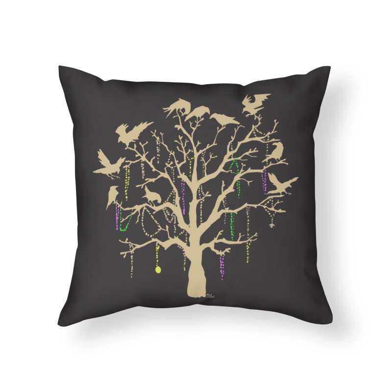 The Birds and the Beads Home Throw Pillow by Mike Hampton's T-Shirt Shop