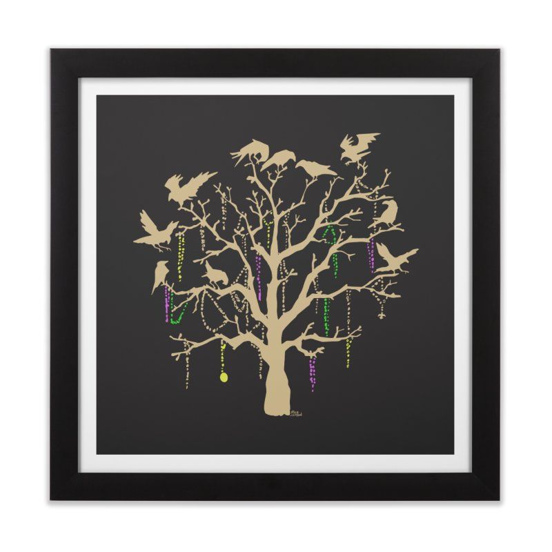 The Birds and the Beads Home Framed Fine Art Print by Mike Hampton's T-Shirt Shop