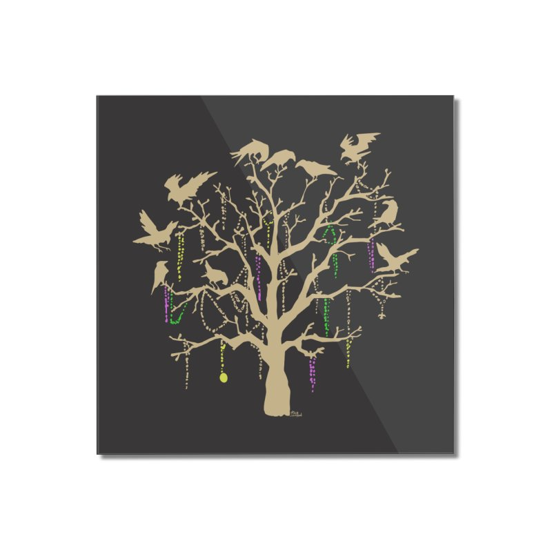 The Birds and the Beads Home Mounted Acrylic Print by Mike Hampton's T-Shirt Shop