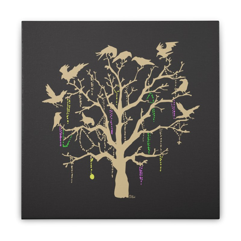 The Birds and the Beads Home Stretched Canvas by Mike Hampton's T-Shirt Shop