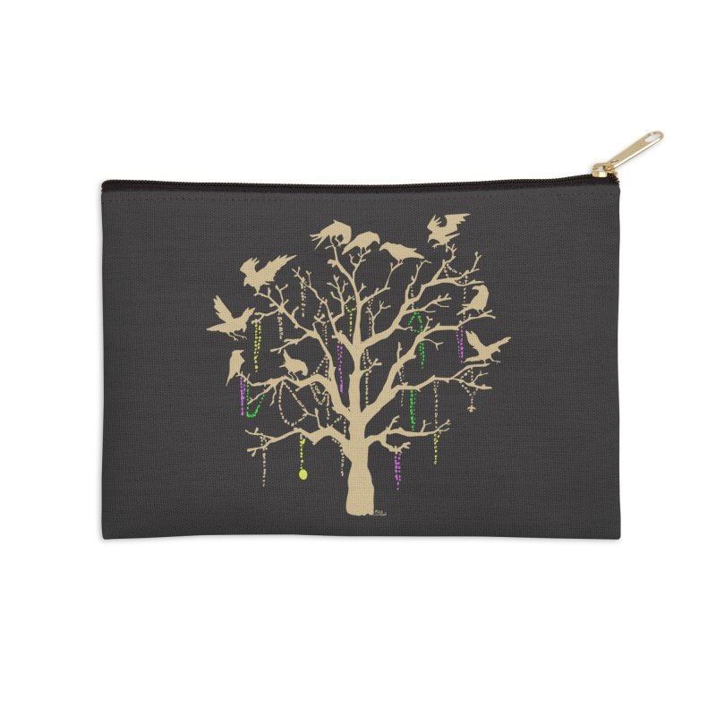 The Birds and the Beads Accessories Zip Pouch by Mike Hampton's T-Shirt Shop