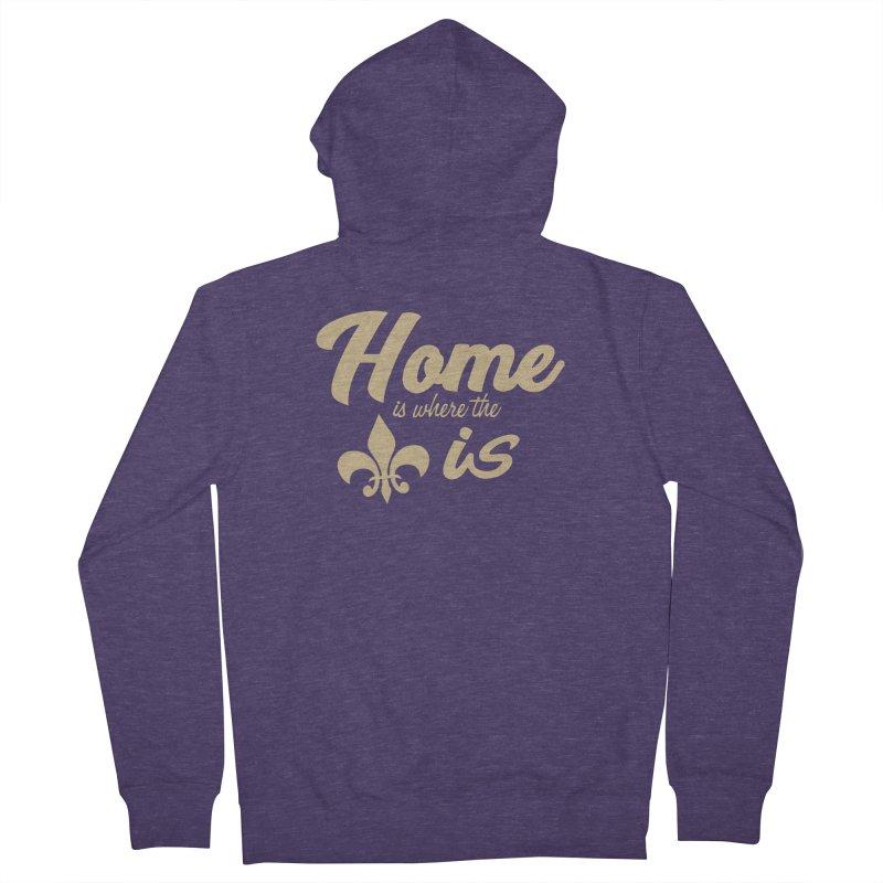 New Orleans Men's Zip-Up Hoody by Mike Hampton's T-Shirt Shop