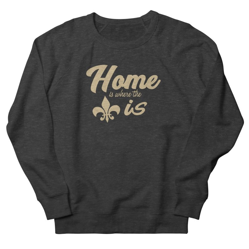 New Orleans Men's French Terry Sweatshirt by Mike Hampton's T-Shirt Shop