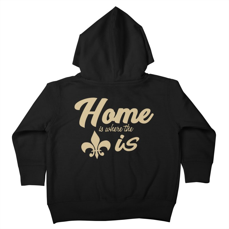 New Orleans Kids Toddler Zip-Up Hoody by Mike Hampton's T-Shirt Shop