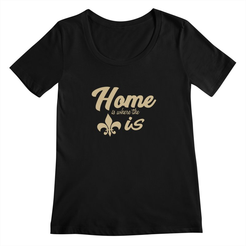 New Orleans Women's Scoopneck by Mike Hampton's T-Shirt Shop