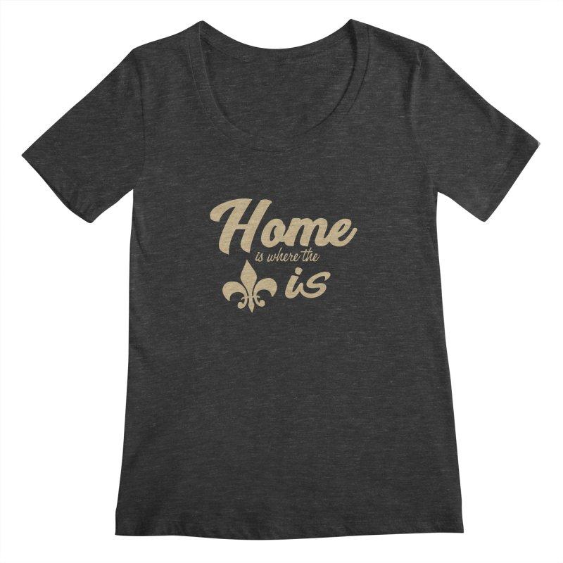 New Orleans Women's Scoopneck by Mike Hampton's T-Shirt Shop