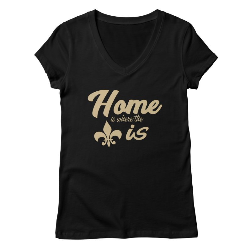 New Orleans Women's V-Neck by Mike Hampton's T-Shirt Shop