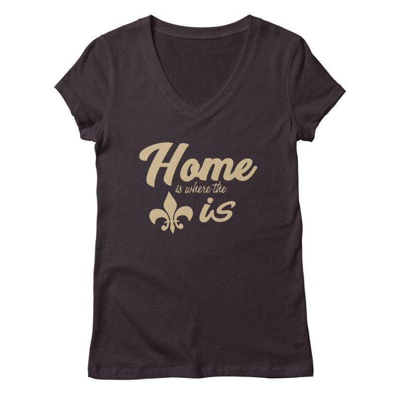 New Orleans Women's V-Neck by Mike Hampton's T-Shirt Shop