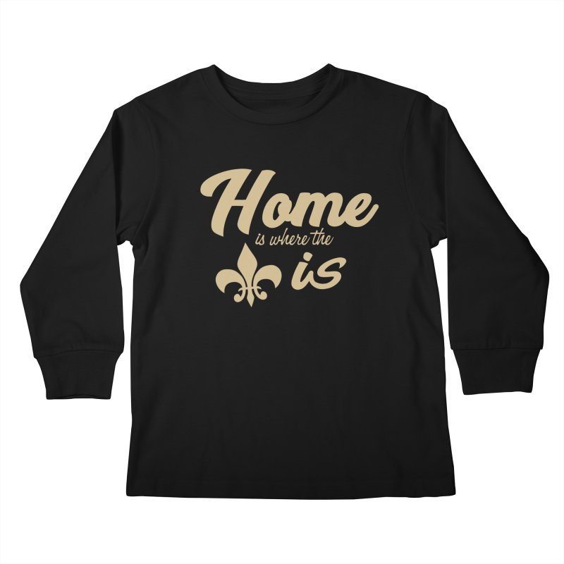 New Orleans Kids Longsleeve T-Shirt by Mike Hampton's T-Shirt Shop