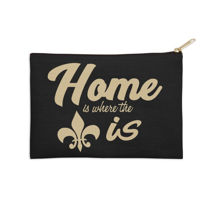 New Orleans Accessories Zip Pouch by Mike Hampton's T-Shirt Shop