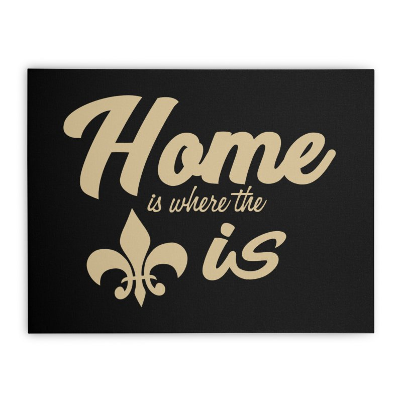 New Orleans Home Stretched Canvas by Mike Hampton's T-Shirt Shop