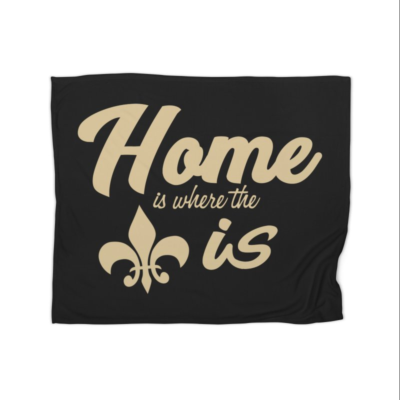 New Orleans Home Blanket by Mike Hampton's T-Shirt Shop
