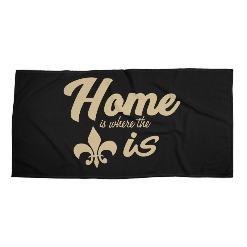 New Orleans Accessories Beach Towel by Mike Hampton's T-Shirt Shop