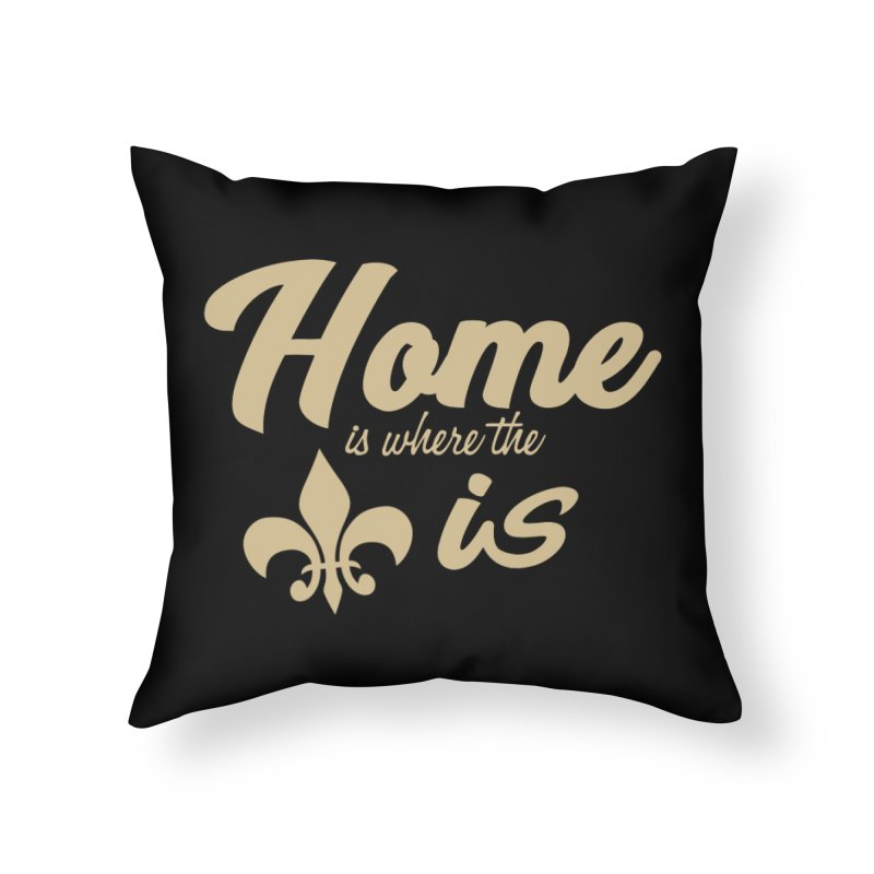 New Orleans Home Throw Pillow by Mike Hampton's T-Shirt Shop
