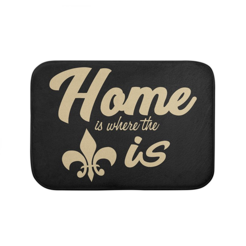 New Orleans Home Bath Mat by Mike Hampton's T-Shirt Shop