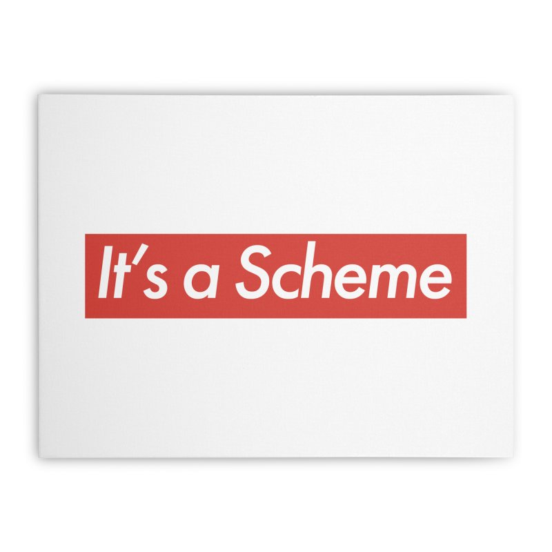 Supreme Scheme Home Stretched Canvas by Mike Hampton's T-Shirt Shop