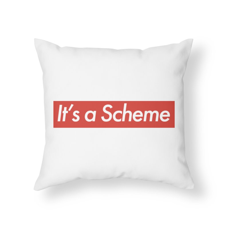Supreme Scheme Home Throw Pillow by Mike Hampton's T-Shirt Shop