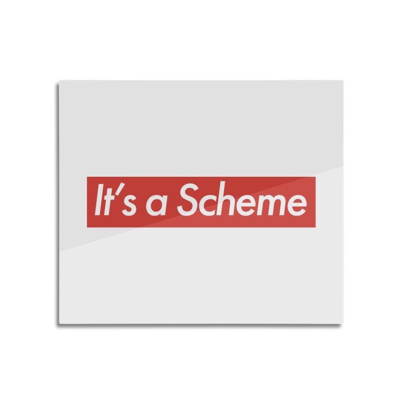 Supreme Scheme Home Mounted Aluminum Print by Mike Hampton's T-Shirt Shop