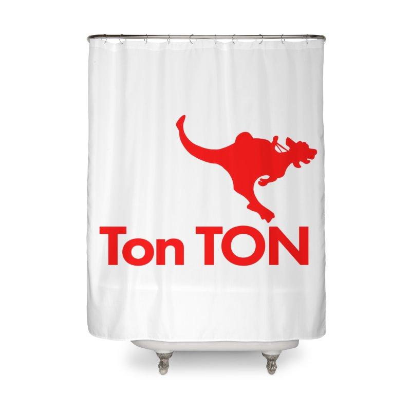 Ton-TON Home Shower Curtain by Mike Hampton's T-Shirt Shop