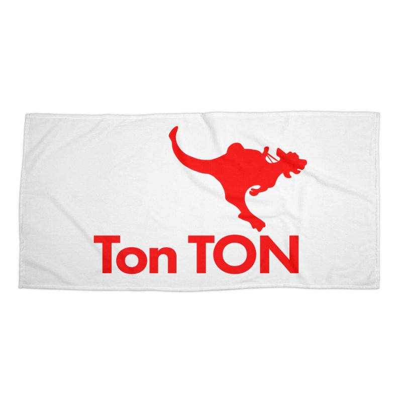 Ton-TON Accessories Beach Towel by Mike Hampton's T-Shirt Shop
