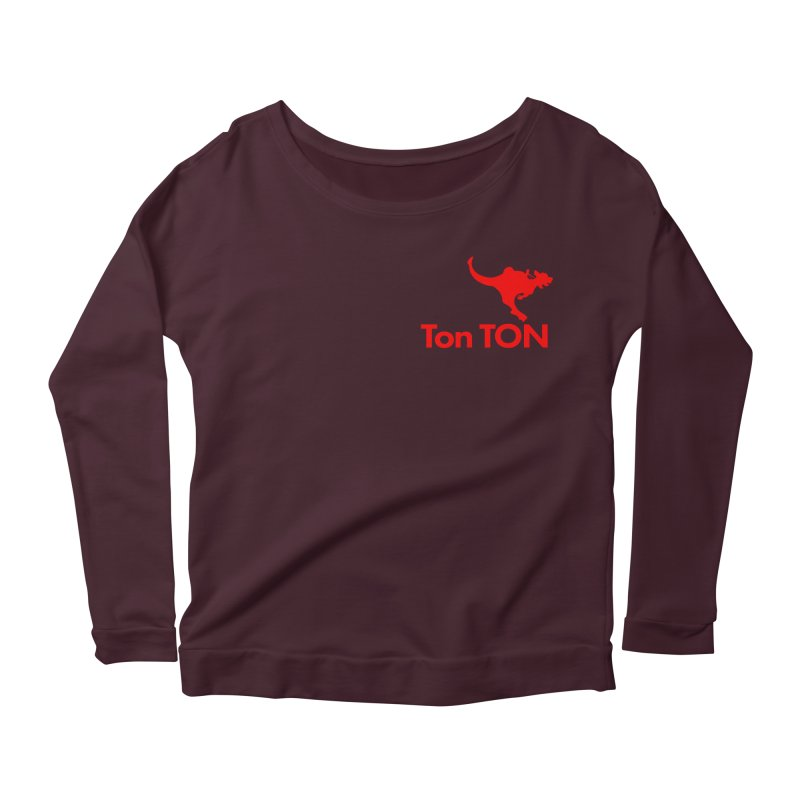 Ton-TON Women's Longsleeve Scoopneck  by Mike Hampton's T-Shirt Shop