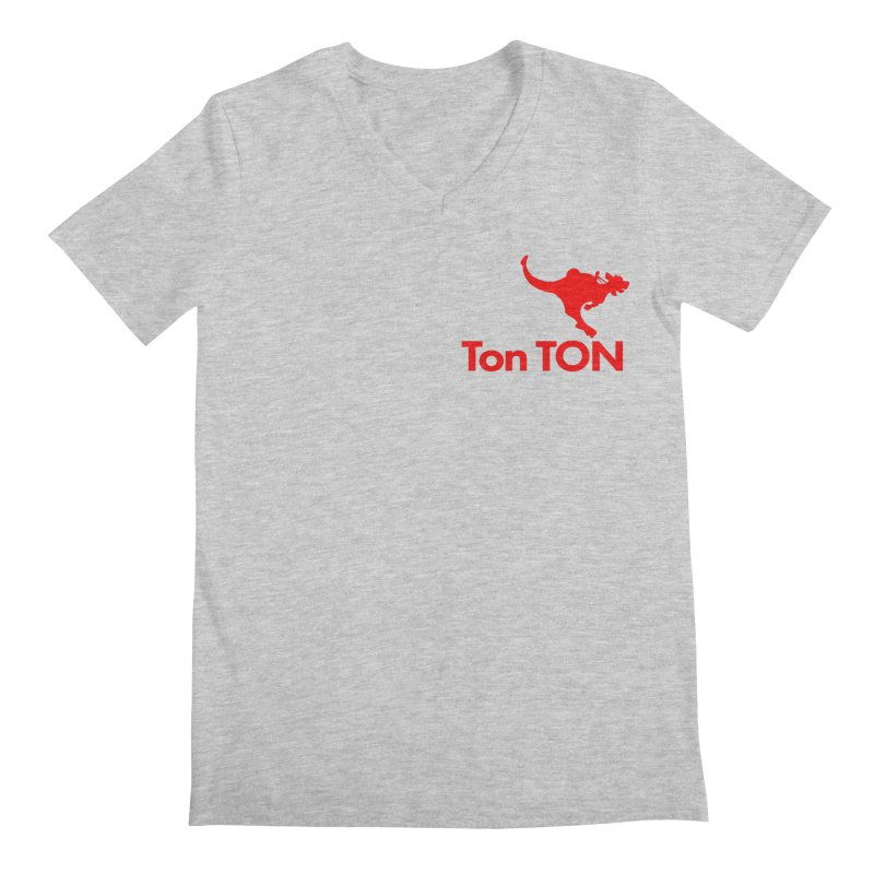 Ton-TON Men's Regular V-Neck by Mike Hampton's T-Shirt Shop