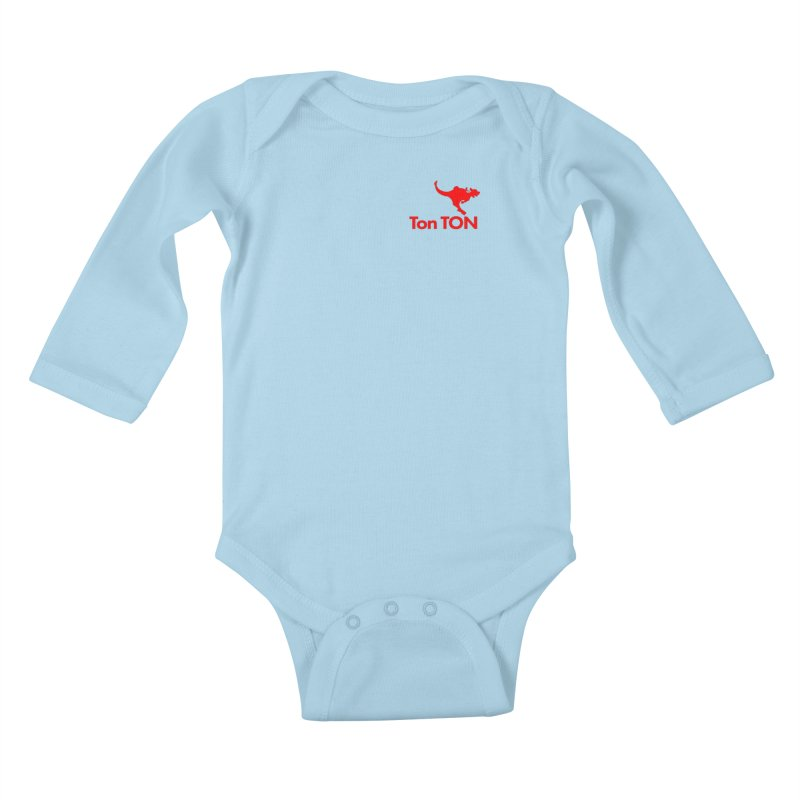 Ton-TON Kids Baby Longsleeve Bodysuit by Mike Hampton's T-Shirt Shop