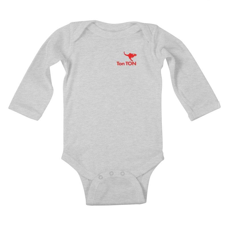 Ton-TON Kids Baby Longsleeve Bodysuit by Mike Hampton's T-Shirt Shop