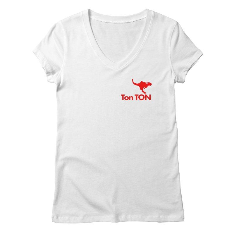 Ton-TON Women's V-Neck by Mike Hampton's T-Shirt Shop