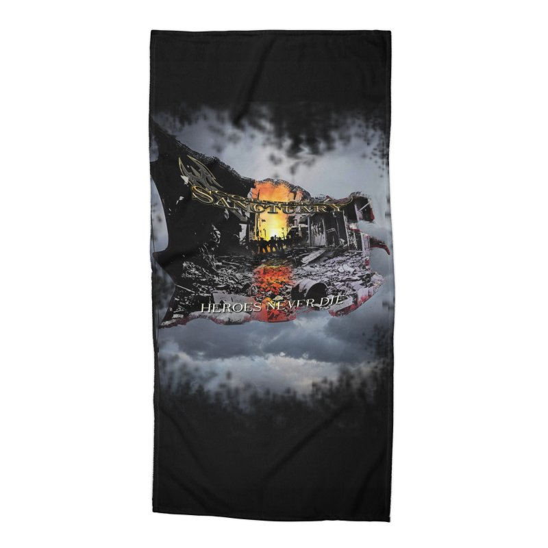 """Corners Of Sanctuary """"Heroes Never Die"""" Accessories Beach Towel by The RFL Records Shop"""
