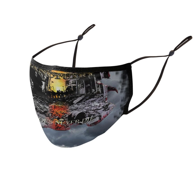 """Corners Of Sanctuary """"Heroes Never Die"""" Accessories Face Mask by The RFL Records Shop"""