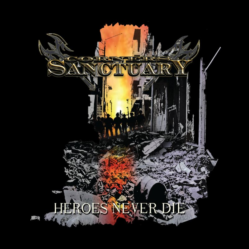 "Corners Of Sanctuary ""Heroes Never Die"" Cover Art Men's T-Shirt by The RFL Records Shop"