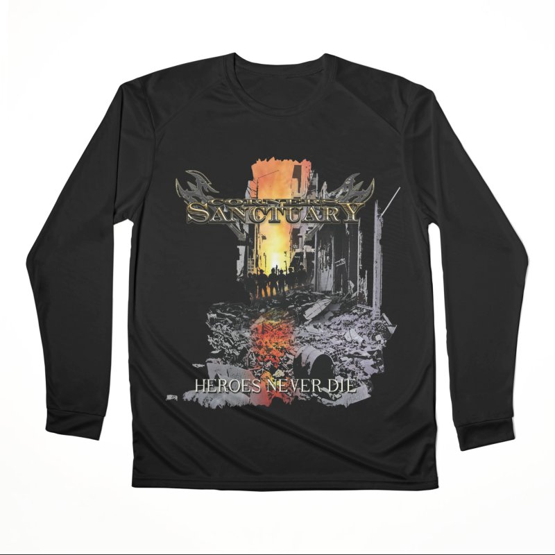 """Corners Of Sanctuary """"Heroes Never Die"""" Cover Art Men's Longsleeve T-Shirt by The RFL Records Shop"""