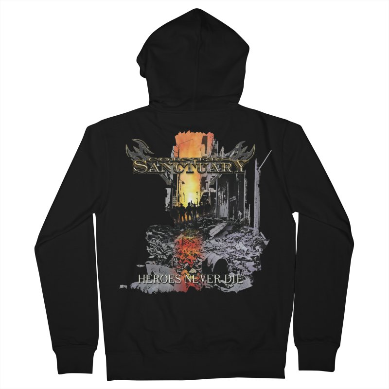 """Corners Of Sanctuary """"Heroes Never Die"""" Cover Art Men's Zip-Up Hoody by The RFL Records Shop"""