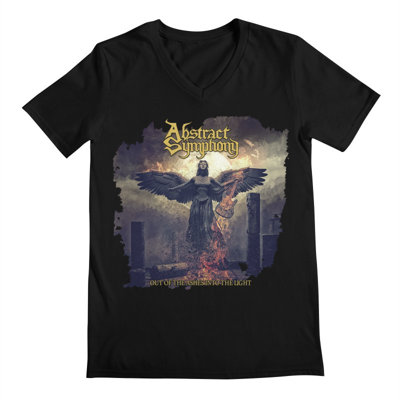 """Abstract Symphony - """"Out Of The Ashes Into The Light"""" Men's V-Neck by The RFL Records Shop"""