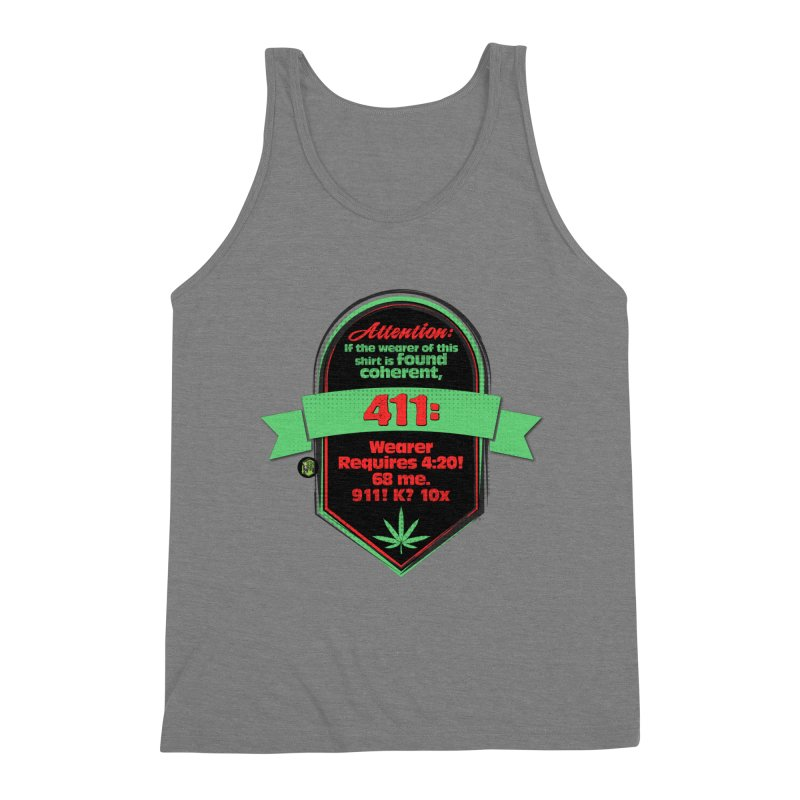 Coherent 411 Men's Triblend Tank by The SeshHeadz's Artist Shop