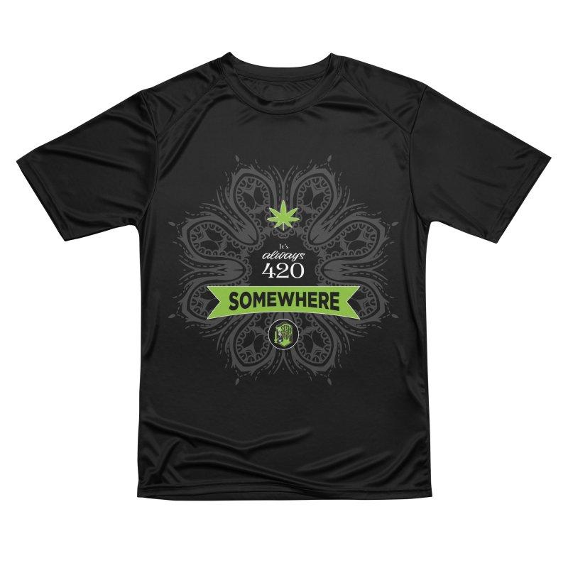 It's 420 Somewhere (Dark) Men's Performance T-Shirt by The SeshHeadz's Artist Shop