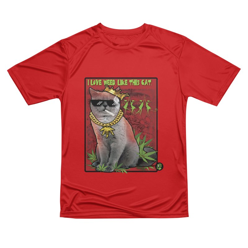 I love weed like this cat Men's Performance T-Shirt by The SeshHeadz's Artist Shop